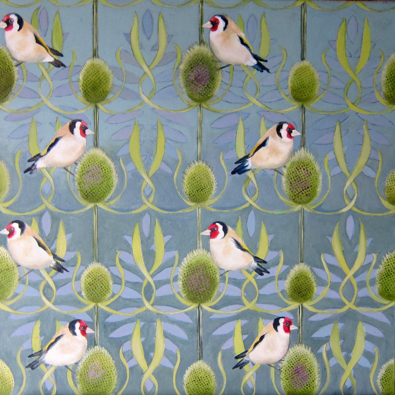 Gold Finches and Teazles by Sophie Colmer-Stocker