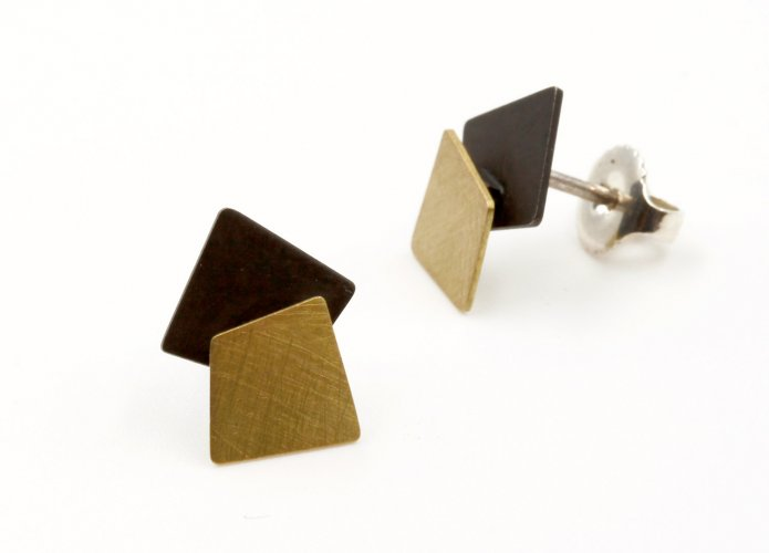 Earrings, Geometric Small