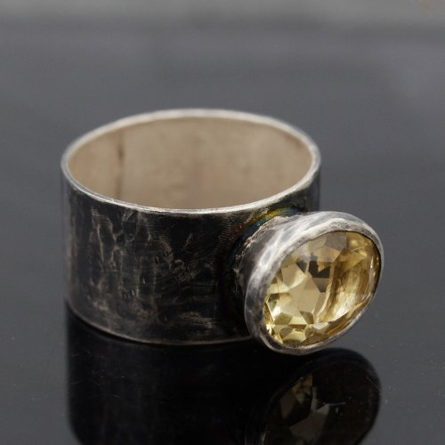Citrine Wide Ring