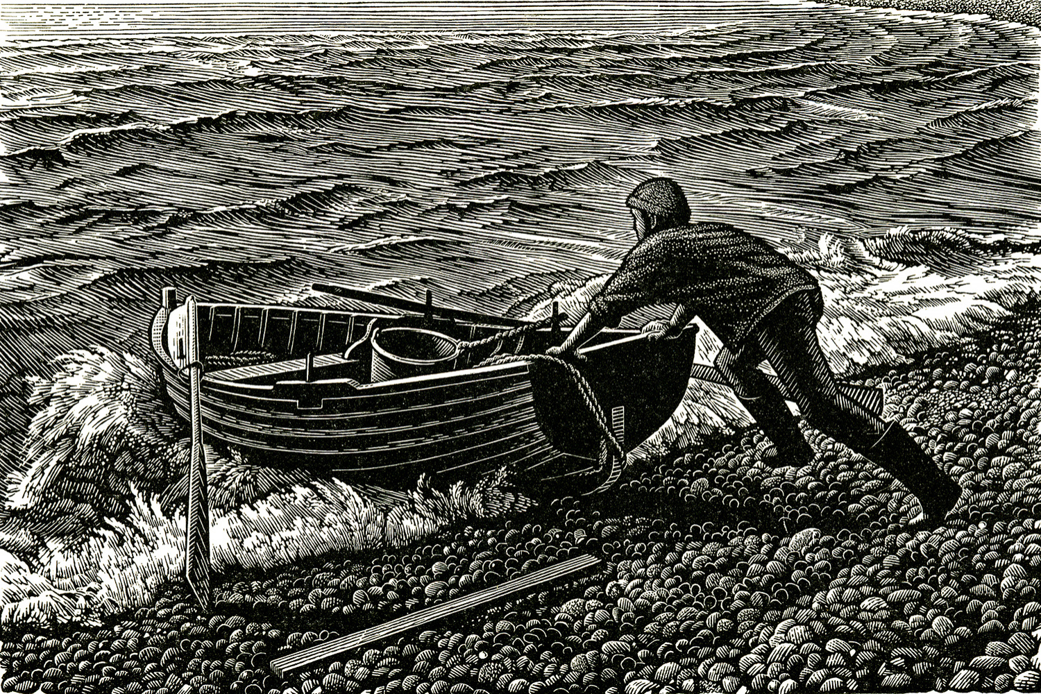 Chesil Boatman by Howard Phipps
