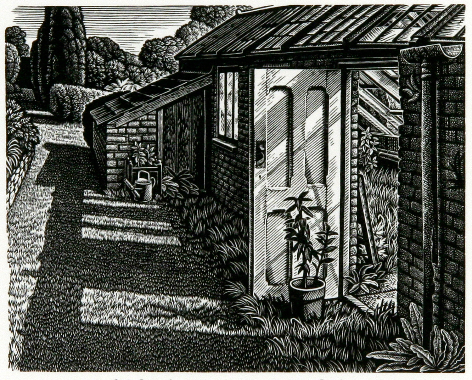 Old Greenhouse, Little Bredy Walled Garden by Howard Phipps