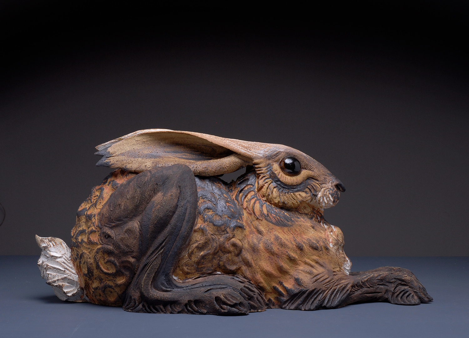 Large Hunched Hare by Jeremy James