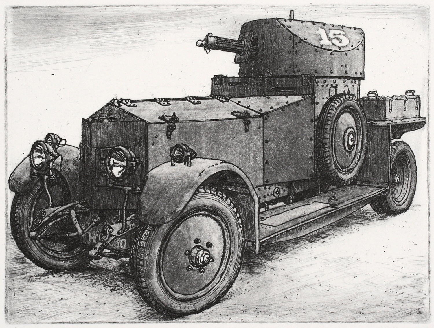 Rolls Royce Armoured Car by Nicholas Ward