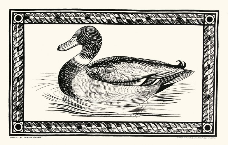 Tea Towel Duck