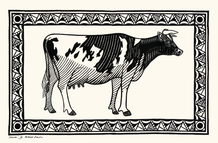 Tea Towel Cow
