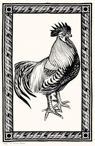 Tea Towel Cockerel