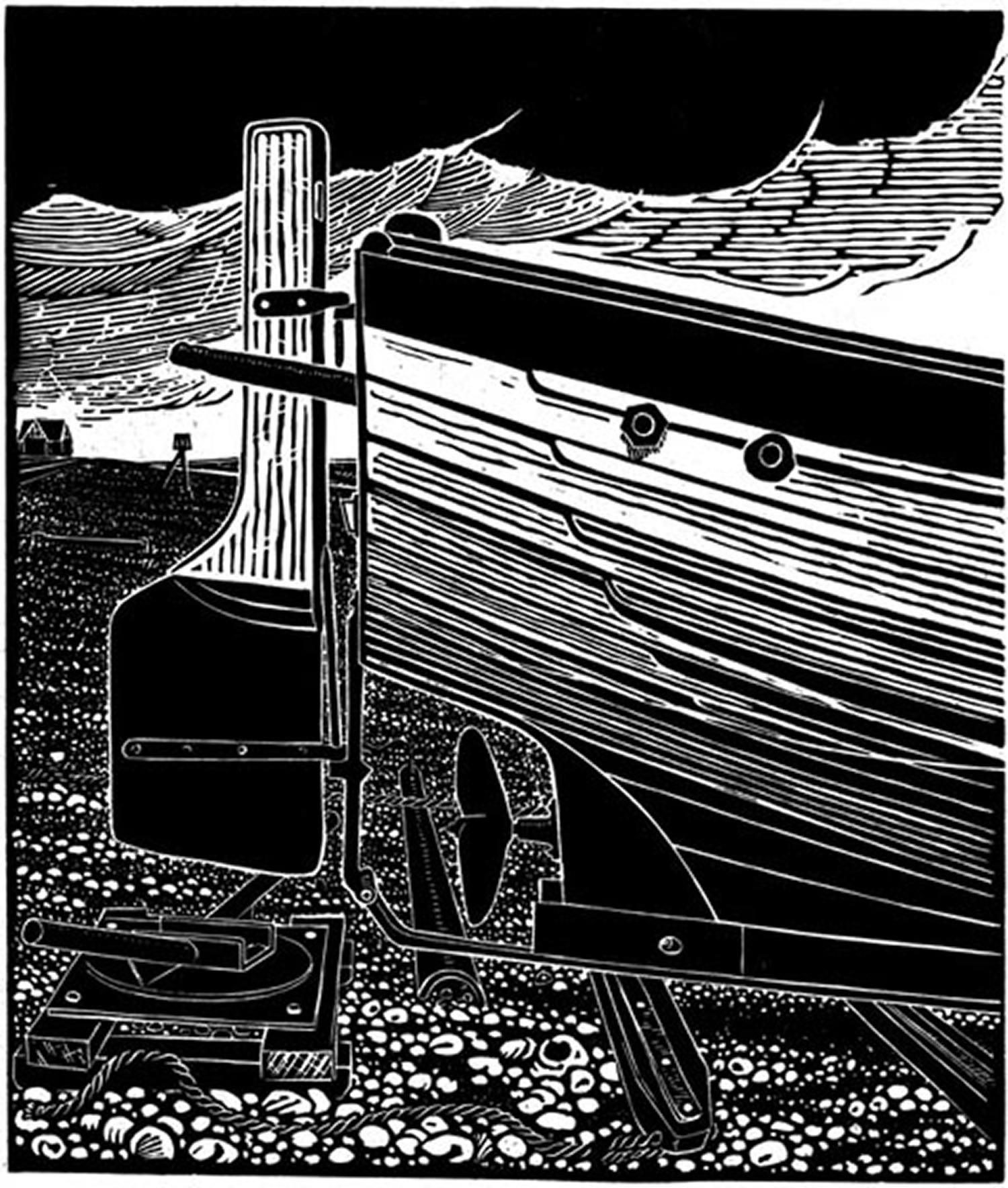 Stern of an Aldeburgh Beach  Boat by James Dodds
